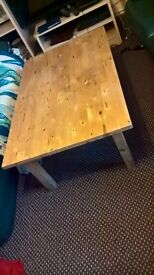 Pine solid coffee table