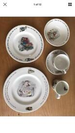 Set Of Peter Rabbit Dinner Plates And Cup And Saucer Wedgwood