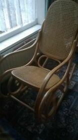 bentwood rocking chair vintage wooden furniture