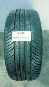PNEU ÉTÉ USAGÉ / USED SUMMER TIRE 225/55R17 22555R17 KUMHO ECSTA (1 DE DISPONIBLE)