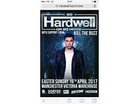 2 VIP TICKETS FOR HARDWELL WAREHOUSE PROJECT MANCHESTER FACE VALUE