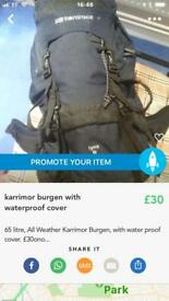 Burgen with waterproof cover
