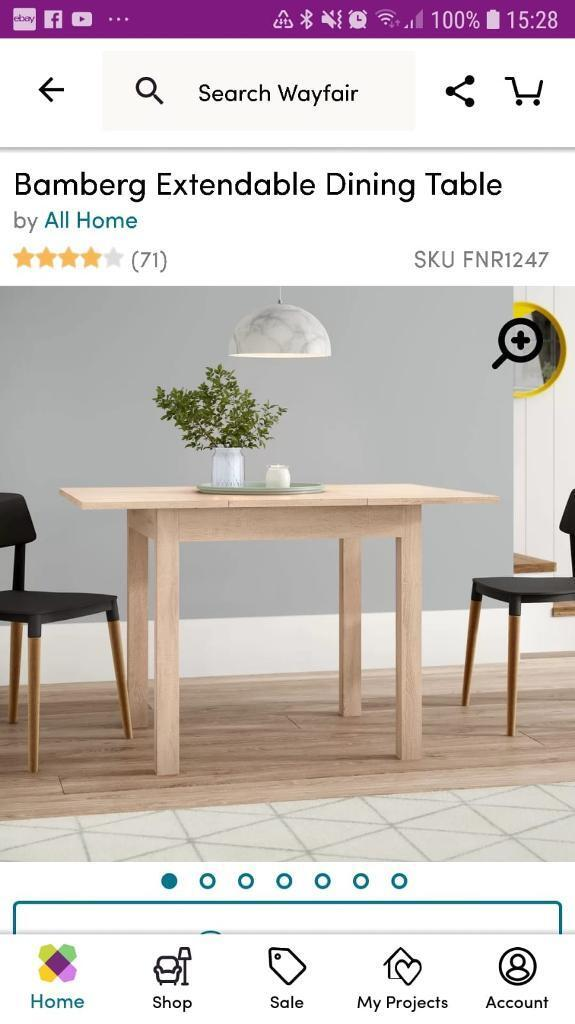 7b912d222ee Brand new extending dining table