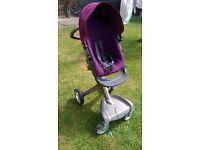 Stokke Xplory - purple - height adjustable push chair