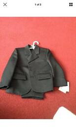 Boys 1year old black 3 piece suit set