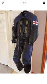 2 piece leathers and gloves