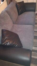 Black and grey sofas