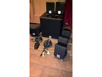 pc speakers or tv, 6 satalite speakers and 1 subwoofer