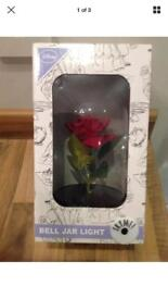 PRIMARK BEAUTY AND THE BEAST ROSE BELL JAR