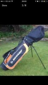 SOLD ......,Junior golf set clubs bag and trolley