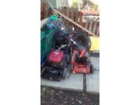 2 // petrol lawnmowers 1 headge trimmer