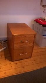 old filing cabinet - beech?
