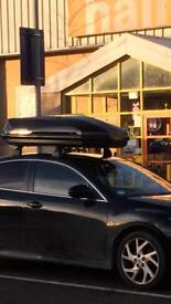 Exodus 470l roof box with bars and feet, Mazda 6