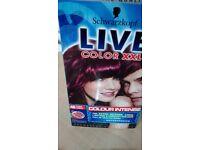Hair Colour Permanent Schwarzkopf Cyber Purple 11 packs avail.