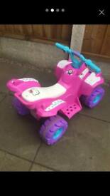 Small girls electric ride on