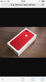 iphone 7 plus 128gb on o2 new box /unlock for u £30 extra