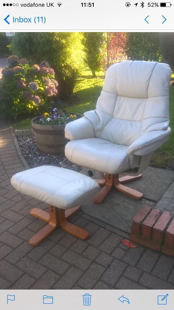 Leather Chair & Stool
