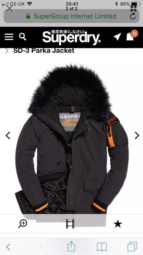 Superdry Mens Parka Coat
