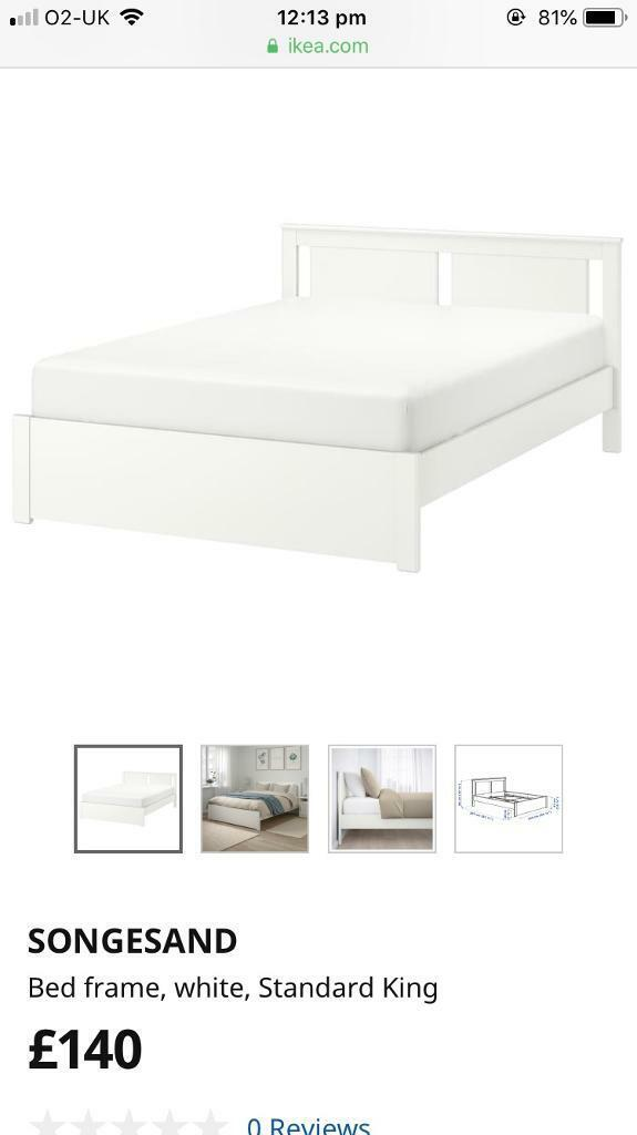 finest selection fbbbc 1337a Ikea songesand bed frame king size | in Shepherds Bush, London | Gumtree