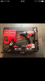 Milwaukee M18FPD-502X 135Nm Li-Ion Brushless Fuel Combi Drill, x2 5.0Ah
