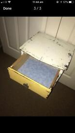 Shabby chic drawers/bed side table