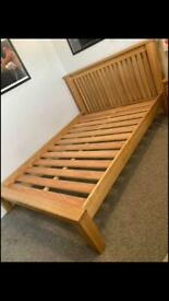 Oak double bed can deliver