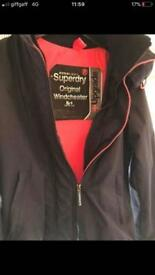 Superdry coat women's size 8
