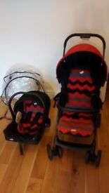 Joie 2 in 1 stroller suitable from birth to 15kg