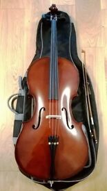 Stringers 1/2 Size Cello Outfit with Bow & Padded Case