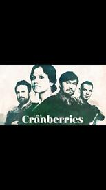 1 ticket for the cranberries in Bristol 22nd may