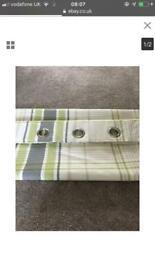 Dunelm Stanley green curtains