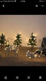 Reindeer and sleigh lights