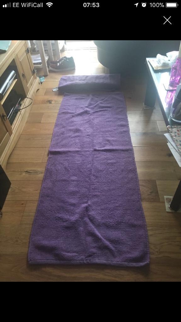 Long purple rugs