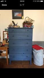 Blu wooden chest of drawers - ikea