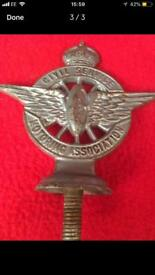 Civil Service car/scooter badge lambretta / Vespa