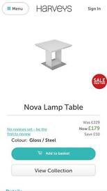 Harveys Nova Lamp Table Brand New