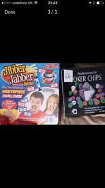Jibber jabber and poker game