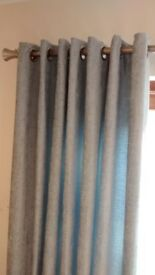 Chenille duck egg curtains, never used.