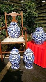 4 large vases