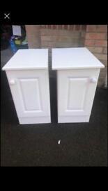 2x White Handmade Sturdy Storage/Bedside Units