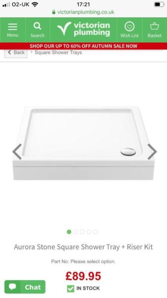 Aurora Stone Square Shower Tray + Riser Kit BRAND NEW IN PACK for sale  Ash, Hampshire