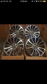 22 inch alloy wheels turbine style fits range rover/sport