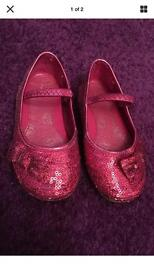 Girls Size 7 Pink Party Shoes