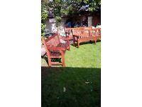 Natural Teak, Good External Quality, Garden Benches, 1 @ 6ft. 2 @ 8ft.