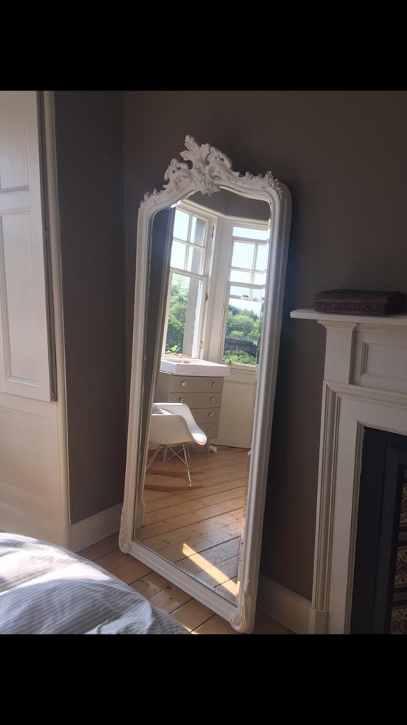 Laura Ashley Patricia White Floor Mirror