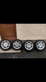 Smart Car 450 FORTWO 1998-2007 Genuine Starline 15 Inch Alloy Wheels & Tyres
