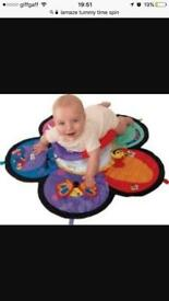 Lamaze tummy time spin sensory play mat