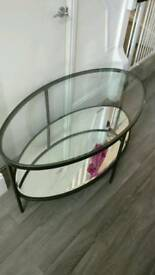 Mirror effect coffee table