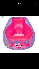 Trolls inflatable chair