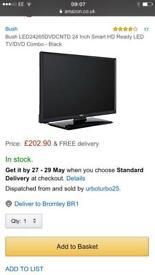 Bush LED24265DVDCNTD 24 Inch Smart HD Ready LED TV/DVD Combo - Black